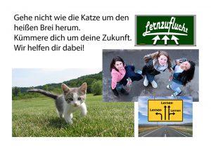 Prämie; Sei nicht die Katze, die um den heißen Brei läuft, Nachhilfe der Lernzuflucht Hagen