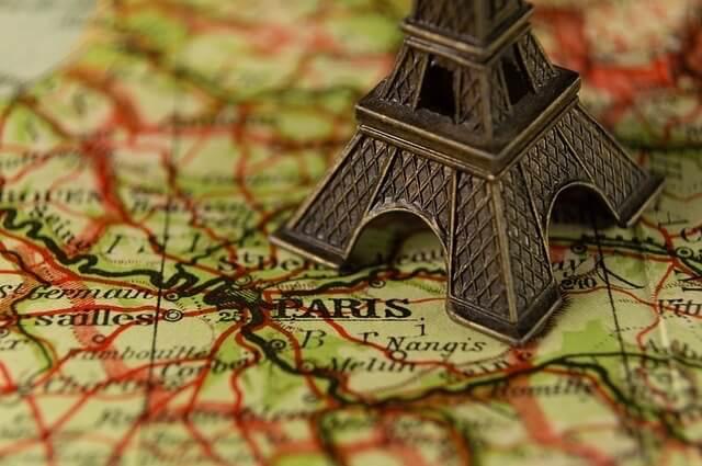 Karte Frankreichs