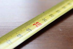 Maßband für Messungen in der Mathematik