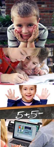 Schüler Bilderserie Nachhilfe