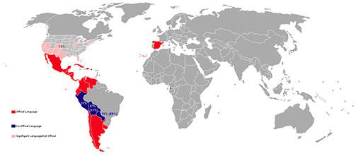 Verbreitung von Spanisch in der Welt