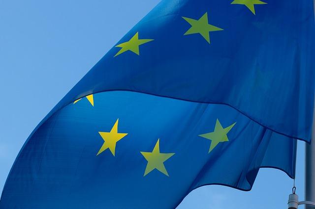 EU Flagge Symbol für Sprachkurse