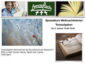 Textaufgaben @ Lernzuflucht Hagen