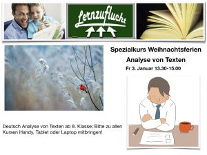 Deutsch Analyse @ Lernzuflucht Hagen