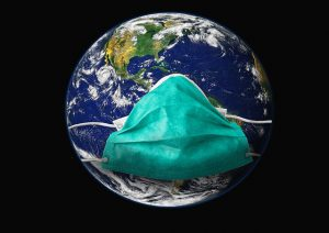 Corona Virus Globus Mundschutz Nachhilfe